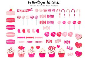 Pink Valentine's Day Candy Clipart
