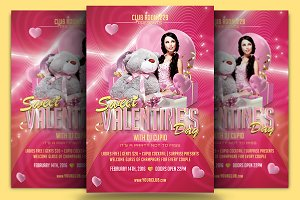 Sweet Valentine Flyer Template