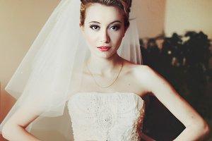 Bride looks pretty