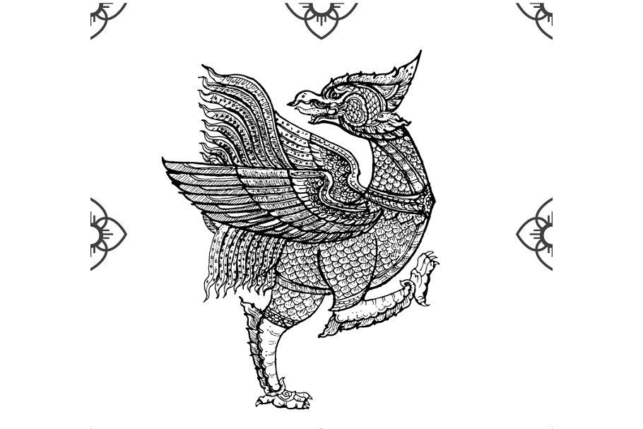 Thai tradition art,Nok Thet bird