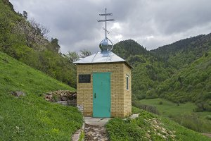 Orthodox chapel in the mountains