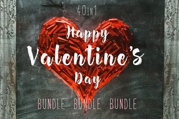 Valentine's Hearts PACK 40 in 1