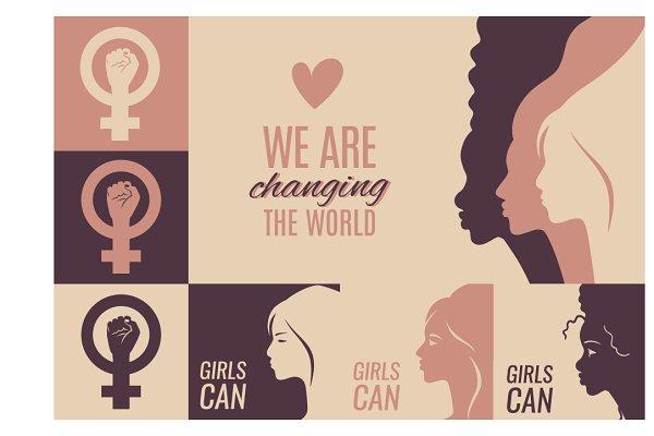 Women solidarity set