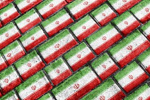 Iran Flag Urban Grunge Pattern