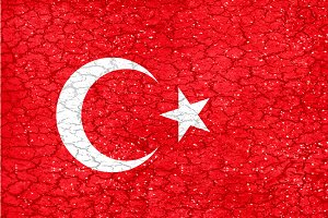 Grunge Style Turkey National Flag