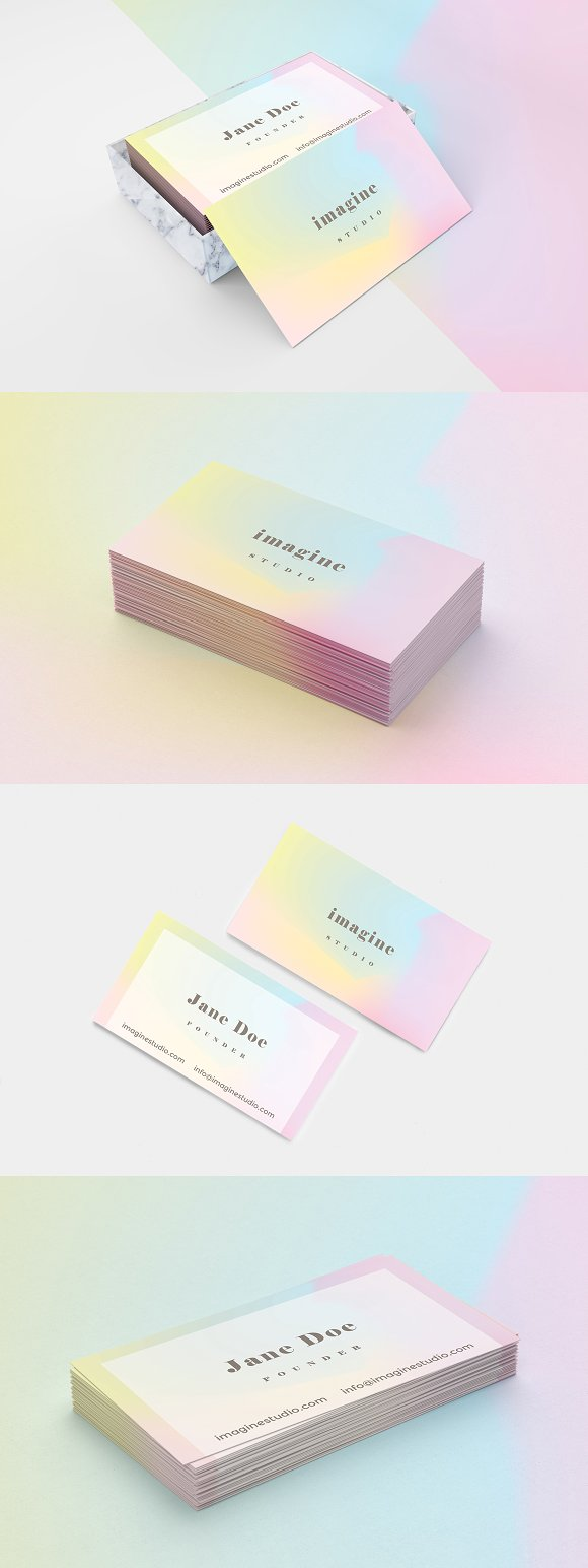 Minimal holographic business card business card templates minimal holographic business card business cards magicingreecefo Images