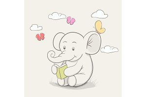 Little elephant read a book