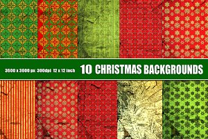 Christmas background gold red green