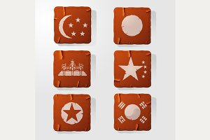 Icon retro Asia