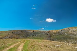 Road over hills