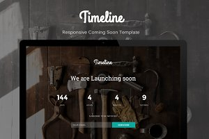 Timeline - Coming Soon Template