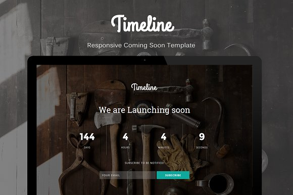 Timeline - Coming Soon Template ~ HTML/CSS Themes on Creativ ...