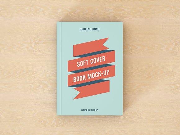 Download Soft Cover Book Mock-Up - FREE Facebook PSD Post Mockup