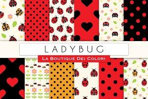 Ladybug Seamless Digital Paper