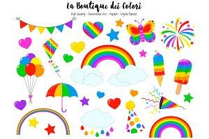 Rainbow Spring Clip Art