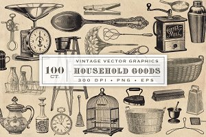 Household Goods Vector Graphics