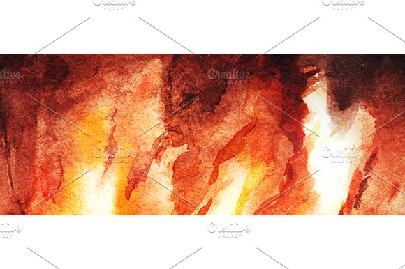 Watercolor Fire Flame Background Illustrations