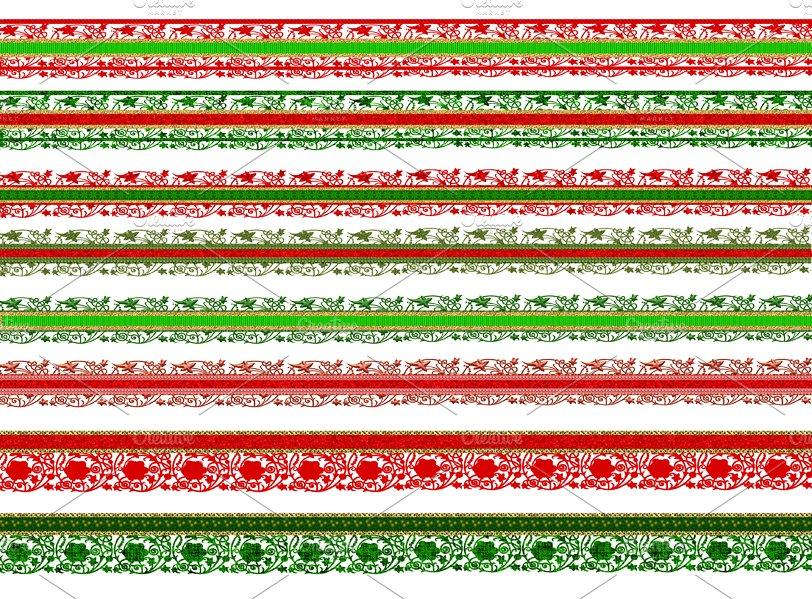 Christmas Scrapbook Borders Lace Illustrations Creative Market