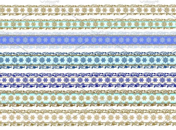 Christmas snowflake scrapbook border in Patterns