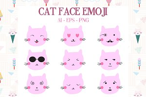 Cute Cat Emodji Set