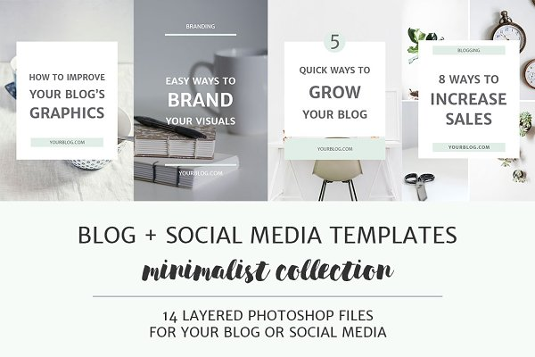 Pinterest Templates: Elan Creative Co. - Blog + Social Media Image Templates