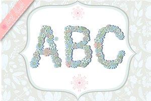 Floral alphabet.