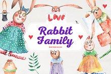 Valentine's Rabbits Family