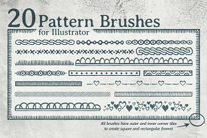 20 pattern brushes