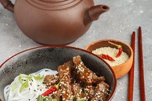 Fried spicy beef