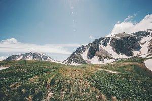 Rocky Mountains blue sky summer