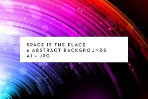 6 abstract space backgrounds