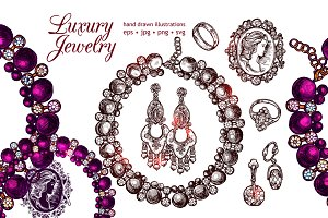 Luxury Jewelry Sketch Set