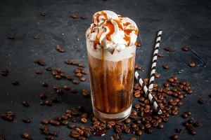 Cold coffee, frappe (frappuccino)
