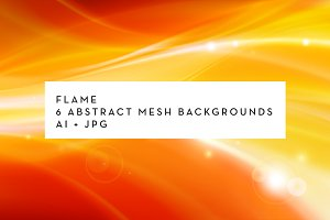 FLAME: 6 abstract mesh backgrounds