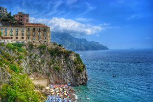 Beautiful Beach, Amalfi Coast Italy