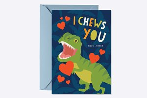 I Chews You Valentine Card Template