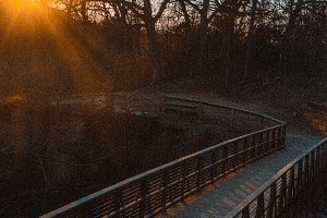 Sunset Over a Bridge