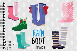 Rain Boot / Wellington Boot Clipart