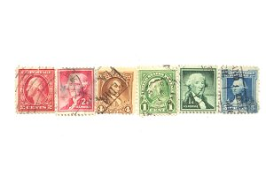 Vintage ombre stamps