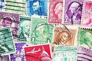 Vintage stamps background
