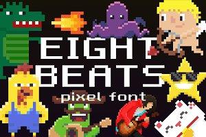 Eight Beats: pixel font