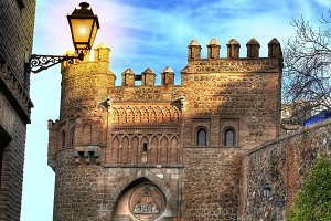 Sun gate square in Toledo (Spain)