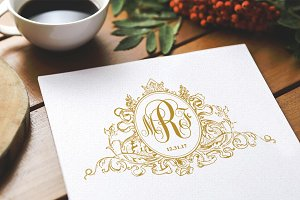 Regal Crest Monogram Wedding Logo