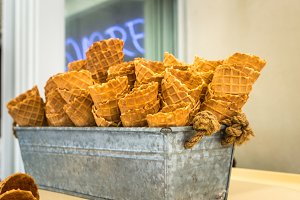 Delicious wafer cups for ice-cream