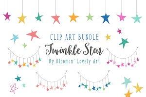 Stars Clip Art Bundle - Star Clipart