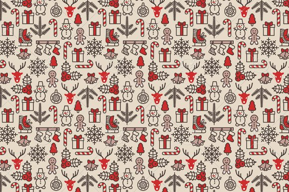 Christmas Patterns Collection Graphic Patterns Creative Market Amazing Christmas Patterns
