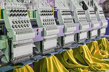 Machines for the textile industry