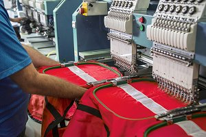 Machine for the textile industry