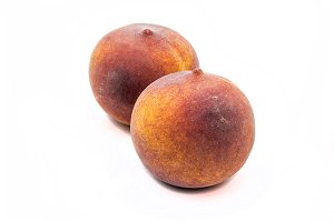 Pair of peach isolated