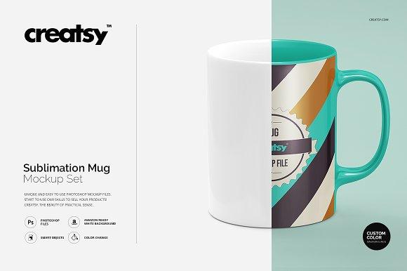 Free Sublimation Mug Mockup Set